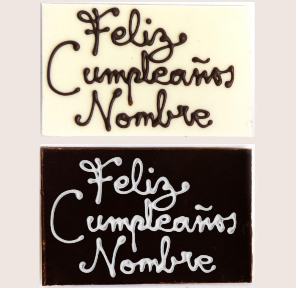 """PLAQUITA """"FELIZ CUMPLEAÑOS + NOMBRE"""""""